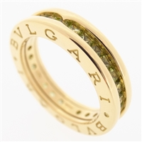Bvlgari B Zero 1 Peridot Ring Yellow Gold