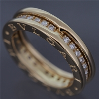 Bvlgari B Zero 1 Diamonds Ring Yellow Gold