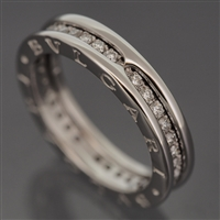 Bvlgari B Zero 1 Diamonds Ring White Gold