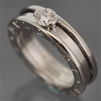 Bvlgari B Zero 1 Solitaire Diamond Ring White Gold
