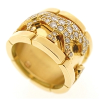 Cartier Panther Diamonds Ring Yellow Gold