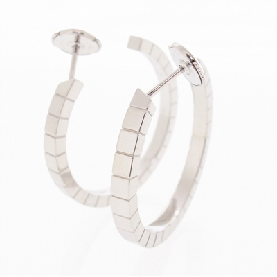 Cartier Lanieres Post Hoop Earrings White Gold