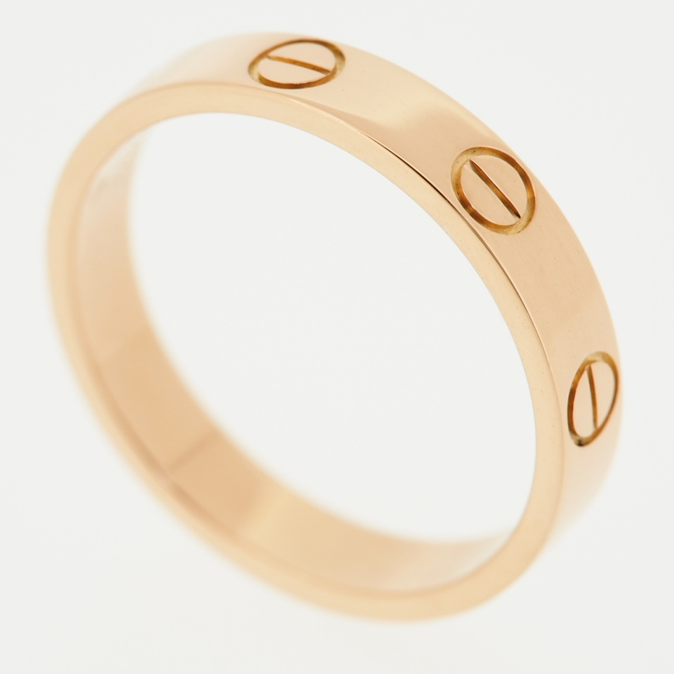 CARTIER 18K ROSE GOLD LOVE WEDDING BAND RING 52 WITH CERTIFICATE  BOX
