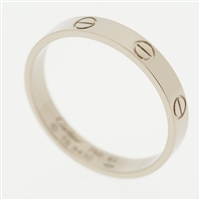 Cartier Mini Love Wedding Band Ring White Gold