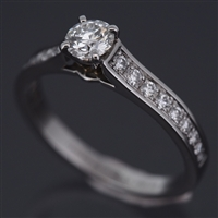 Cartier 1895 Engagement Diamond Ring Platinum 950