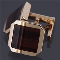 Cartier Santos Dumont Tiger Eye Cufflinks