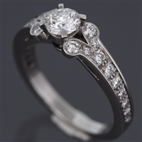 Cartier Ballerine Solitaire Diamond Ring Platinum