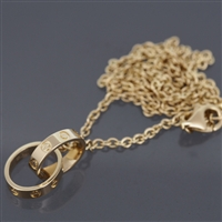 Cartier Baby Love Necklace Yellow Gold