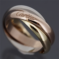 Cartier 3 Bands Trinity Ring 3 Gold