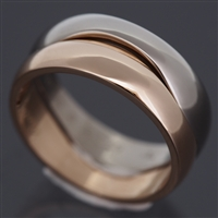 Cartier Love Me Ring White & Rose Gold