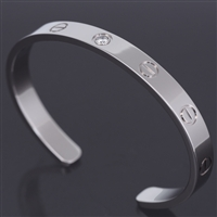Cartier Love Open Bracelet With Diamond White Gold