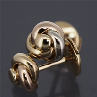 Cartier Baby Trinity Post Earrings 3 Gold