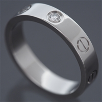 Cartier Mini Love 1 Diamond Ring White Gold