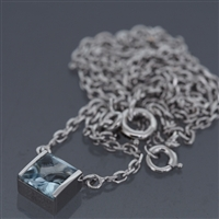 Cartier Tank Aquamarine Pendant White Gold
