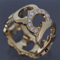 Cartier C De Cartier Diamonds Ring YG