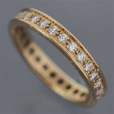 Cartier Eternity Pave Diamonds Ring Yellow Gold