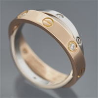Cartier Be Love 6 Diamonds Ring Rose & White Gold