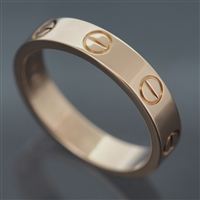 Cartier Mini Love Wedding Band Ring Rose Gold