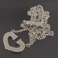 Cartier C Heart Pendant White Gold
