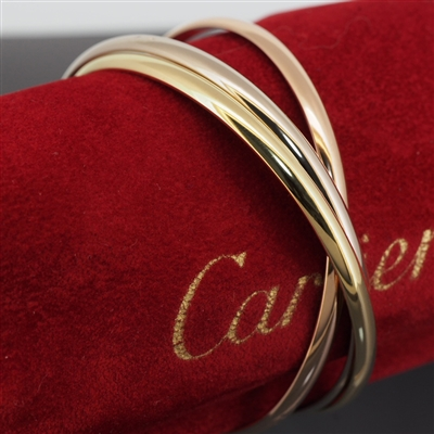 Cartier Trinity Bangle Tri Color Gold MM