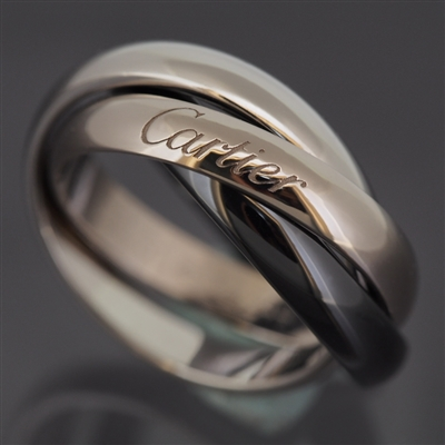 Cartier 3 Bands Trinity Ring Black & White