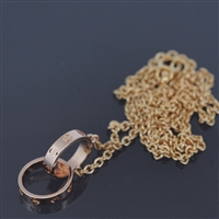 Cartier Baby Love Necklace Rose Gold