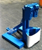 CUSTOM HEAVY-DUTY MORSPEED FORKLIFT ATTACHMENT FOR 1 DRUM UP TO 2500 Lb. HAS 2 HEADS IN FIXED CENTER POSITION
