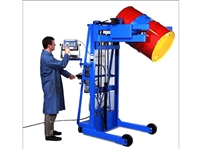 "VERTICAL-LIFT DRUM POURER, 60"", SCALE-EQUIPPED, AC POWER LIFT & TILT, 800 Lb. CAPACITY"