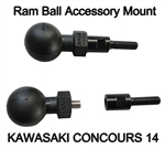 Motorcycle GPS Mount with RAM Ball