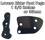Rider Foot Peg Lowering Brackets