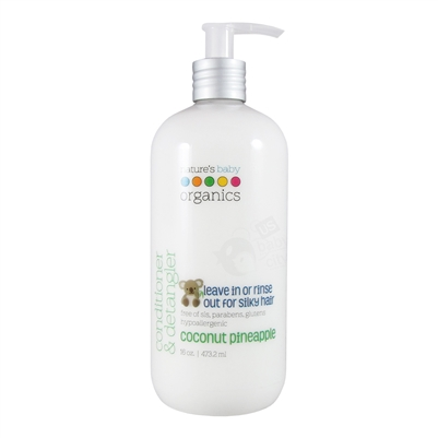 Conditioner & Detangler Coconut Pineapple - 16 oz. (Nature's Baby Organics)