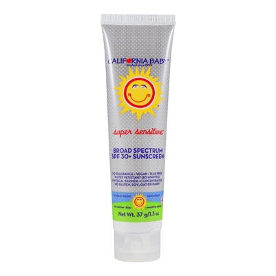 Super Sensitive Broad Spectrum SPF 30+ Sunscreen - 1.3 oz. (California Baby)