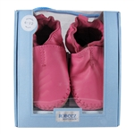 Premium Leather Classic Moccasin Soft Soles 6-12 months - Pink (Robeez)