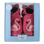 Pinky the Flamingo Soft Soles 6-12 months - Hot Pink (Robeez)