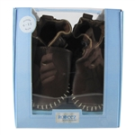 Premium Leather Classic Moccasin Soft Soles 6-12 months - Brown (Robeez)