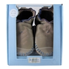 Premium Leather Classic Moccasin Soft Soles 6-12 months - Grey (Robeez)