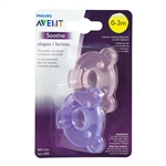Soothie Pacifier 0-3m 2 pack  - Pink/Purple (Philips Avent)