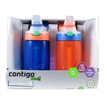Kids Autospout Water Bottle 2 Pack Blue & Orange - 14 oz. (Contigo)
