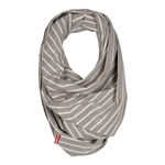 Grab & Go Hide & Chic Nursing Scarf Grey Stripe (Skip Hop)