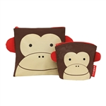 Zoo Reusable Sandwich & Snack Bag Set Monkey (Skip Hop)
