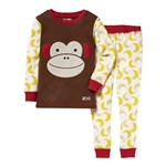 Zoojamas Little Kid Pajamas Monkey 3T (Skip Hop)