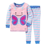 Zoojamas Little Kid Pajamas Butterfly 2T (Skip Hop)