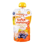 Super Morning Organic Bananas, Blueberries, Yogurt & Oats + Super Chia 16 Pack - 4 oz (Happy Baby)