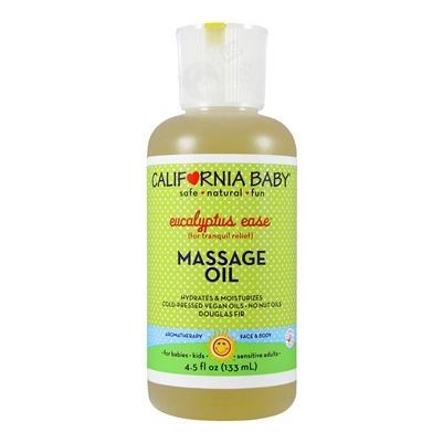 Eucalyptus Ease Massage Oil - 4.5 oz. (California Baby)