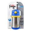 Foogo Vacuum Insulated Straw Bottle Blue - 10 oz. (Thermos)