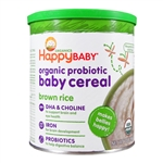 Organic Probiotic Baby Cereal 6 Pack - Brown Rice (Happy Baby)