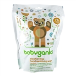 Alcohol-Free Hand Sanitizing Wipes Mandarin - 75 wipes (Babyganics)