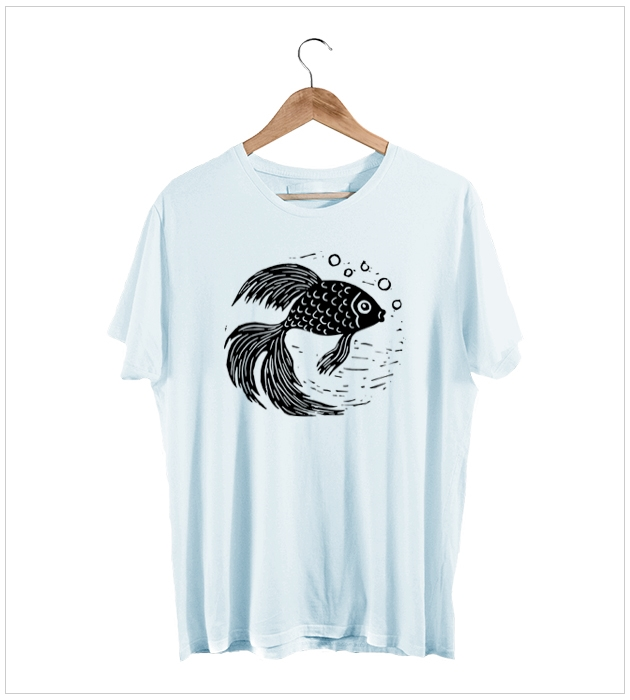 Goldfish Linoprint T-Shirt
