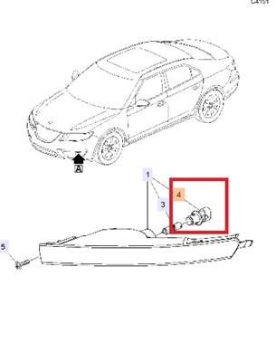 Saab 9-5 Turn Signal Socket (2010-2011) ITEM #4