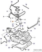 Fuel system, Fuel tank 4 Cylinder